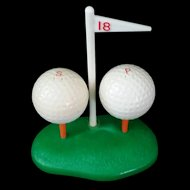 Plastic Golf Ball Salt and Pepper Shaker 1940's Mid Century