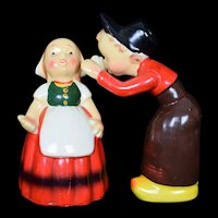 Dutch Boy and Girl Salt and Pepper Shaker set Vintage c1950