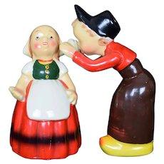 Dutch Boy and Girl Salt and Pepper Shaker set Vintage c1950