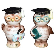Anthropomorphic Owl Graduation Salt & Pepper Shakers