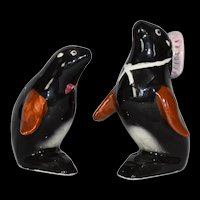 Mama and Baby Seal Salt and Pepper Shaker Set Vintage Japan