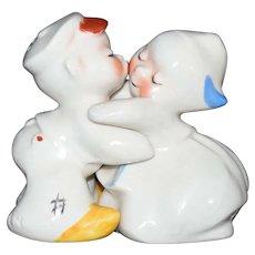 Dutch Boy & Girl Hugger Kissing Salt & Pepper Shaker set by Van Tellingen c1950