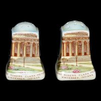 Souvenir Salt and pepper shaker set from George Rogers Clark Memorial Vincennes, Indiana