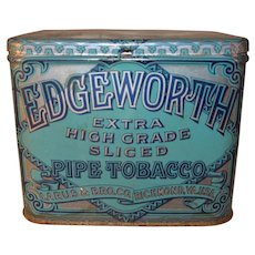 Vintage Larus & Bro Co - Edgeworth Extra High Grade Sliced Pipe Tobacco Tin Made in USA