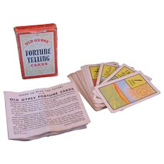 Old Gypsy Fortune Telling Game Card Deck 1940 by Whitman Publishing No. 3013