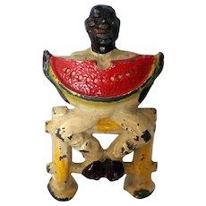 Manoil Black Man Eating Watermelon #41/14 Happy Farm Series Lead Hand Painted