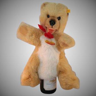 "Steiff Mimic Bear hand Puppet 17"" long c1985 Tags"