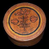 Primitive Pennsylvania Dutch Tulip Shaker Pantry Box Hand painted Folk Art c1900