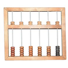 Old School house Abacus used in classroom handmade c1955