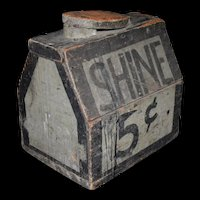 Antique Primitive 5 cent Shoe Shine Box – handmade and painted