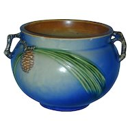 """""""Rare"""" Roseville Pottery Beautiful 5"""" Blue Pine Cone Jardinière"""