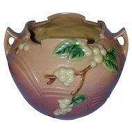 """Beautiful Roseville Pottery Pink Snowberry 5"""" Rose Bowl 1RB-5"""""""