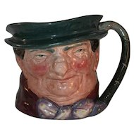 """Vintage Large Royal Doulton  Toby Character Mug """"Tony Weller"""" Wearing Hat and Bowtie"""