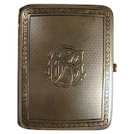 Old 1909 Hallmarked London Sterling Silver Heavy Cigarette Case Maker's Mark CD