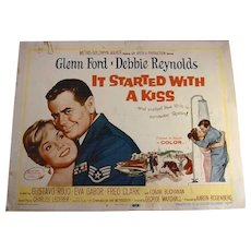 "1959 Set of 8 Lobby Cards For Movie ""It Started with a Kiss"" Starring Glenn Ford & Debbie Reynolds"