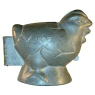 Vintage Pewter Ice Cream Mold Very Nice Easter Chick Marked 603