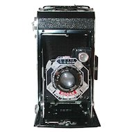 Kodak Six.20 Black Film Camera f 6.3 100 mm Kodak Anastigmat Lens Case and Box