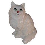 Vintage Glazed Porcelain Large Cat Figurine Marked Beswick England 1867