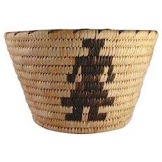 Vintage Papago Tohono O'Odham Indian Deep Basket Human Figures Design R Stien