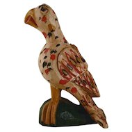 Fantastic 1996 Schimmel Like Carved Wood Polychrome Painted Eaglet By Jonathan Bastian