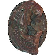 Old Hubley Cast Iron Doorknocker Macaw Parrot With Oval Backing Marked 16