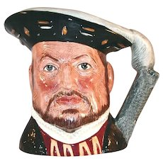 "Vintage Large Royal Doulton  Toby Character Mug King ""Henry VIII"" London Tower Handle"