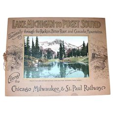1914-1920 Color Photos Book Lake Michigan to Puget Sound Chicago, Milwaukee & St. Paul Railway