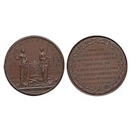 1738 Geneva Switzerland Bronze Medal France's Louis XV Peace Mediation Efforts