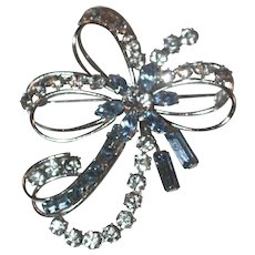 Gorgeous Vintage Rhinestone Decorated Sterling Silver Pin Brooch Carl-Art , Inc.