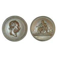 Large Bronze Original Medal 1869 Opening of The Suez Canal Austria Franz Joseph by J Tautenhayn