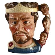 """1982 Large Royal Doulton Toby Mug """"Macbeth"""" Shakespearean Collection Number D6667"""