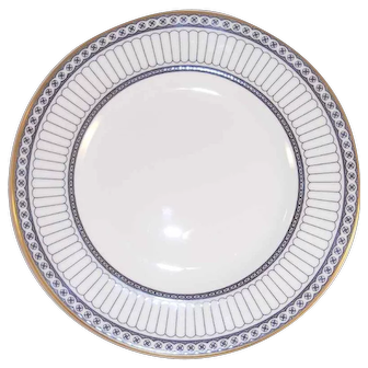 "Pair Of Bone China 8 1/8"" Salad Plates Wedgwood Colonnade Pattern W4340"