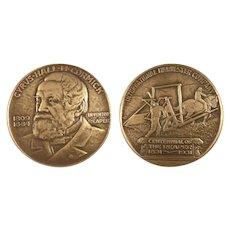 1931 Large Bronze Medal Centennial The McCormick Reaper International Harvester