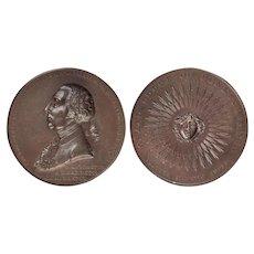 1902 Bronze Medal Sesquicentennial Washington Freemason Initiation PA Grand Lodge