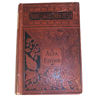 Antique 20,000 Leagues Under The Sea by Jules Verne ALTA Author's Edition HC GD