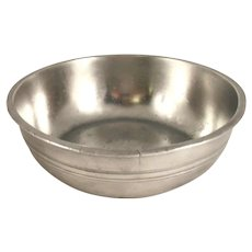 Antique Pewter Deep Basin Crowned Rose Touch Mark Made in London