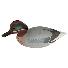 1979 Stoney Point Carved Wood Mallard Drake Duck Decoy Signed Raymond Hornick