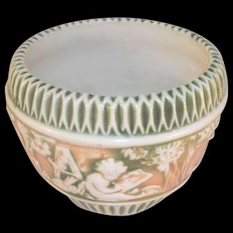 Beautiful Circa 1915 Roseville Pottery Donatello Pattern Six Inch Jardiniere