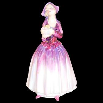 Royal Doulton Porcelain Figurine Doreas Rd No 769308 Purple Dress Signed CIS