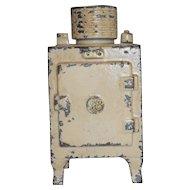 Antique Hubley Small Cast Iron GE Refrigerator Still Penny Bank Original Paint