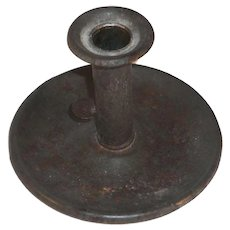 Beautiful Antique American Primitive Tin Push-up Candlestick Holder
