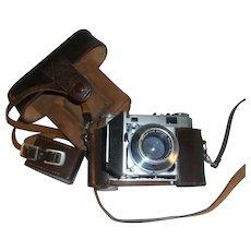 Kodak Retina IIa 35mm Camera Xenon F:2/50 mm Lens Metrofot Light Meter & Case