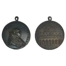 Papal State 1417-1431 Martin V Bronze Medal Old Basilica of St. Peter's