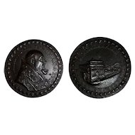 1640 Papal State Urban VIII Bronze Medal Quirinal Palace Defensive Fortification
