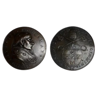 1503 Papal State Pius III Election to the Papacy Bronze Restitution Medal