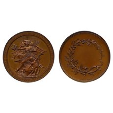Netherlands 1888 Bronze Medal National Exhibition Old & New Art Mgmt B. van Hove