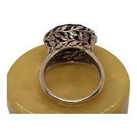 Rose Gold 14 K Fancy Cut Red Tourmaline Ring