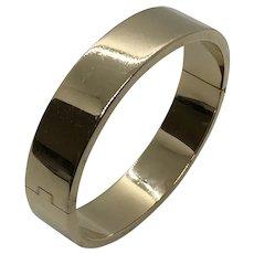 14 K Gold Heavy Bangle Bracelet
