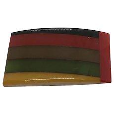 Bakelite Pin Laminated Colors Amazing Example