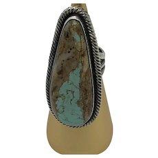 Chimney Butte Navajo Turquoise Matrix Ring 7 1/2